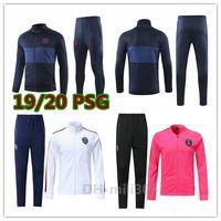 Wholesale new long jackets resale online - New Psg soccer jacket tracksuit Survetement Paris maillot de foot MBAPPE CAVANI long sleeve Full zipper football jackets set