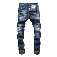ingrosso progettista più pantaloni di formato-2019 Primavera Autunno Nuovo Mens Designer Bike Jeans Moda casual pantaloni sottili lungo ricamo Zipper Jeans di lusso Hip Hop Plus Size 30-38