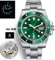 ingrosso eta marche di movimento movimento-Nuovo V9 Best Edition svizzero Cal.3135 ETA 3135 Movimento automatico Nero Ceramica Lunetta Quadrante Nero marchio Mens Watch blu luminoso 904L acciaio LYX