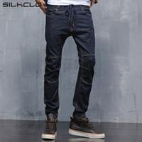современная одежда плюс размер оптовых-Brand clothing Autum 2016 Men's Modern Harem Jeans Slim Korean Style Pencil Pants For Youth Fashion Cross-Pants Plus Size 28-36