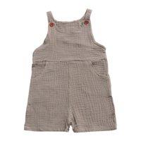 ingrosso blazer per bambini-INS Bottone Tasche Neonate Tuta Pantaloni Bambina per bambina Pagliaccetti Pantalone Tinta unita Bambino senza maniche Cinture per neonati Pantaloni per bambini