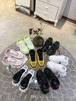 zapatos de plataforma a juego al por mayor-2019 Prada La última plataforma Catwalk All Star Color Matching zapatos de pareja de suela gruesa Zapatillas de deporte de lujo para hombre y mujer Tamaño 35-46
