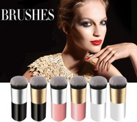 Wholesale brush for cream foundation online - Large Round Head Makeup brushes for Foundation BB Cream Face Powder Cosmetics Brush Flat Head Soft Hair Make up brushes Tools MMA1232