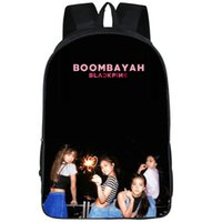 Wholesale japan electronics for sale - Group buy Boombayah backpack Blackpink daypack Electronic dance music group schoolbag Pop print rucksack Sport school bag Outdoor day pack