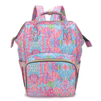 Wholesale wired bags for sale - Group buy Lilly Pulitzer Mom Backpack Flower Printing Nappies Bag Mother Infant Package Fashion Storage Bags Eight Colors bc E1