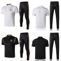 entraînement de chemises en plein air achat en gros de-Survêtement de football du Real Madrid 19 20 Chemises et pantalons d'entraînement de costume pour hommes Costumes de loisirs pour hommes Kits de football pour adultes