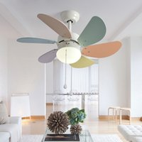 ingrosso fiammiferi dei soffitti dei bambini-Ventilatore da soffitto a LED Ventilatore De Techo Kid Fan Lights Ventilatori da soffitto a soffitto per bambini