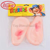 juguetes fotográficos al por mayor-Big Ears Toy Cosplay Funny Ears Toy Party Gag Toys Wedding Photo Plastic Small Big Ear Toy Grueso Labios