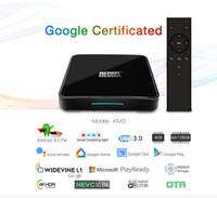телевизионные приставки google tv оптовых-Сертифицированный Google KM3 ATV Android 9.0 Smart TV Box Amlogic S905X2 4 ГБ 64 ГБ 2.4 Г 5 Г Wi-Fi BT BT HDMI 2.1 IPTV-приставка