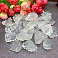 gemas naturais brancas venda por atacado-50g Mineral Natural Branco Cristal de Quartzo Pedra Rocha chips Specimen Cura Coleção Natural áspero Gemstone massa