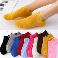 zehnersocken großhandel-1 Paar Unisex Bequeme Streifen Baumwolle Socken Frau Hausschuhe Kurze Söckchen in Zehn Farben Hohe Qualität Neue Mode 2019 # G