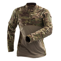 Wholesale army full combat uniform for sale - 2019 Outdoor Tactical Military Combat Camping hiking Uniform Sports Training Army Combat Suit Camouflage Hunting Shirts