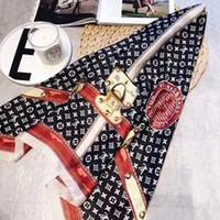 ingrosso scialli lunghi donna-Sciarpa di seta calda per le donne Primavera Estate Design serratura europea Sciarpe lunghe avvolgere con scialli Tag 180x70cm