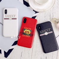 Wholesale iphone back case top for sale – best Top Designer Leather Printing Cellphone Case for iPhone X XR Xs Max Hard Shell Back Cover Case for iphone plus plus Plus