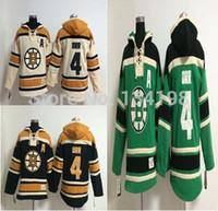 mayo harf toptan satış-4 Bobby Orr Old Time Hokeyi Hoodie Jersey Bruins Kazak Formalar, Numaralandırma Lettering dikili dikiş attı.