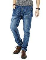 jeans élastiques pour taille plus achat en gros de-PY BIGG Hommes Jeans Coupe Regular Fit Grand Jogger Pantalon Stretch Casual Vêtements de travail Taille élastique Plus Size