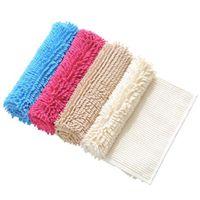 máquina de alfombras al por mayor-Chenille Microfibra Suave Shaggy Bath Rug antideslizante Fluffy Extra Absorbente Alfombra de baño Lavable a máquina Shag Alfombras acogedoras