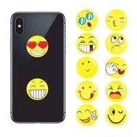 suporte de telefone celular design venda por atacado-DHL Universal 360 Graus Emoji Design Suporte de Telefone Celular Real 3 M cola Expansível Aperto Dedo Suporte de Montagem Flexível Para iPhone Samsung Huawei