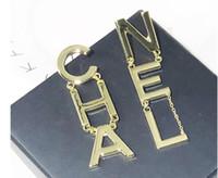 Wholesale fashion earrings for girls resale online - In Stock Hot Sale Designer Full Letter Tassel Earrings For Women Fashion Stud Earring Jewelry Gifts