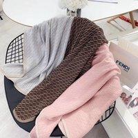 cobertores confortáveis venda por atacado-marca de luxo designer FD clássico algodão de malha crianças macio e confortável cama cobertor interior xale quente ao ar livre de 100 * 100 centímetros nova