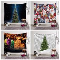 toile à peindre achat en gros de-Exportation chaude peintures murales décoratives suspendus série de Noël Tapisserie arbre de Noël cheminée art peinture tissu décoratif 203x150cm