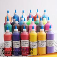 pintura acrílica livre do transporte venda por atacado-Frete grátis atacado 500 ml tinta acrílica / tinta aquarela diy gesso pigmento especial das crianças pintura de arte ambiental