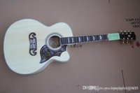 Wholesale high quality new electric guitar for sale - Group buy High Quality new style Natural wood color Acoustic Electric Guitar with fisherman pickup dcfre