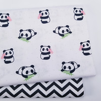 Wholesale kids craft materials resale online - Kids Panda Ripple Cotton print fabric DIY sewing uphostery craft for Baby Children Quilting Sheets Dress Material