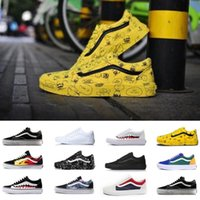 Wholesale basket sports resale online - New Wan Old Skool Men women Casual shoes all white black yellow red blue mens Wan baskets Sports Shoes Sneaker size