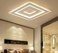 Wholesale nickel paint resale online - Ultra thin Surface Mounted Modern Led Ceiling Lights lamparas de techo Rectangle acrylic Square Ceiling lamp MYY