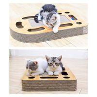 ingrosso pannello di bordo-Cura Giocattoli Addensare Materiale Carta ondulata Cat Scratch Board Pad Morbido tappeto Mat Cat Training Toy