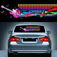 Wholesale equalizer rhythm resale online - 90 CM Car Music Rhythm Sticker Equalizer LED Neon Flash Light Decal Cars Automobile Styling Decoration Atmosphere Lamp CSL2017