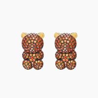 нести ногти оптовых-S925 Серебряная игла для бурения в форме медведя