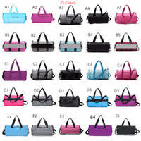 Wholesale travel golf bag resale online - Pink Grey Colors Duffel Bag Big Large Storage Men Women Travel Bag Hangbag Waterproof Duffel Bags Luggage Bags Fast shipping