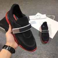 erkek kravat ölçüleri toptan satış-Cloudbust Tasarımcı ayakkabı Yüksek Kalite Yeni Moda Erkek Ayakkabı Tasarımcısı Ayakkabı ünlü Adam Sihirli Kravat Kayma Sneaker için en iyi hediye Boyutu 38-44