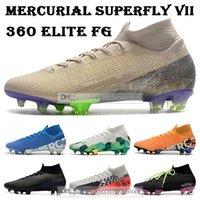 Mens Sneaker alte Scarpe da calcio Terra pacchetto CR7 Mercurial Superfly VII 360 Scarpe Elite FG di calcio Neymar ACC Superfly 7 di calcio dei