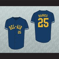 ingrosso aria di banca-Willy, il principe Carlton Banks Bel-Air Academy Baseball Jersey Stitch Sewn-2