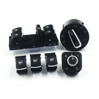 Wholesale vw passat b6 switches resale online - Chrome Side Mirror Headlamp Headlight Window Switch Button Kit For Volkswagen VW CC Tiguan Passat B6 Golf Jetta MK5