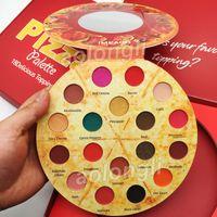 ingrosso tavolozza di bronzo opaco-PIZZA IMEAGO trucchi 18 colori Ombretto palette 18 Deliziosi condimenti Matte luccichio ombretto bronzer Palette Blush