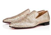 sapatas do casamento do champanhe do salto baixo venda por atacado-Champagne Ouro Bling Bling Glittery Homens Sapatos Formais Sapatos Men Party Wedding Dress Shoes