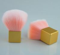 hacer cepillo de pelo al por mayor-KIKO Pincel Polvo Suelto Mango Corto Seta Colorete Dulce Rosa Pinceles de Maquillaje para el Cabello Cosméticos de Mujer Maquillaje Herramientas de Cepillo con Caja de PVC