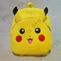 bebek pikachu oyuncakları toptan satış-Son çıkan pokemons çantası sevimli pikachu peluş çocuk sırt çantası çocuklar hediye peluş oyuncak sırt çantası çocuk küçük çanta bebek sevimli sırt çantaları