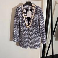 weibliche designer blazer großhandel-mailand frauen vintage luxus designer buchstaben druck jacke weibliche mädchen die top qualität mode runway blazer mantel