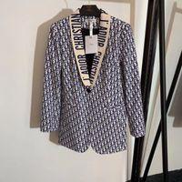 blazer chica de moda al por mayor-milan women vintage diseñador de lujo chaqueta con estampado de letras mujeres niñas la chaqueta de pasarela de moda de alta calidad