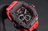 Wholesale mm silicone case resale online - Luxury watch complex function watch titanium carbon fiber case montre de luxe luxury mens watches montre de luxe orologio di lusso