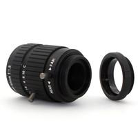 microscopio de 5mp al por mayor-5MP 50mm 1: 1.8 Foco fijo CS / C Mount para lente de cámara CCTV / para cámara de microscopio industrial cctv