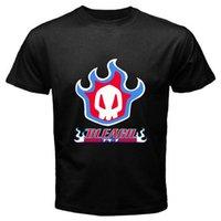 ingrosso candeggina personalizzata-New BLEACH Kurosaki Hollow Logo Funny T-shirt nera da uomo Custom Jersey con cappuccio t-shirt hip hop hip-hop maglietta in pelle croazia