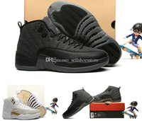 Wholesale taxi black box resale online - Mens s XII OVO White Gym BLACK Basketball Shoes Men Taxi Blue Suede Flu Game CNY Sneakers With Box XMAS