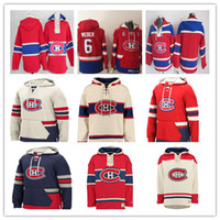 hoodies de hockey carey achat en gros de-Sweat-shirt à capuche Canadiens de Montréal sur mesure Shea Weber Carey Prix Max Domi Brendan Gallagher Sweat-shirt Jonathan Drouin Richard Lafleur Rouge