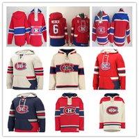 hoodie carey toptan satış-Özelleştirilmiş erkek Montreal Canadiens Hoodie Shea Weber Carey Fiyat Max Domi Brendan Gallagher Jonathan Drouin Richard Lafleur Kırmızı Kazak